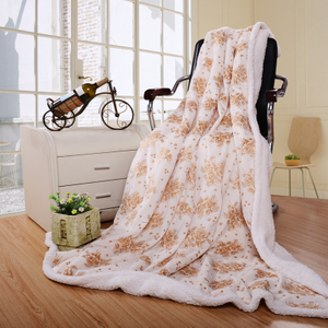 Double Layer Super Soft Puff Sleeping Sofa Cover Cotton Blanket