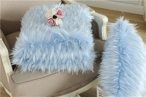 Newest Super Wholesale Blue Throw Soft Faux Fur Blanket