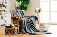 Anti-Pilling 100% Polyester Super Soft Solid Flannel Blanket