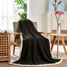 Good Quality Polyester Knitted Simple Baby Soft Flannel Blanket
