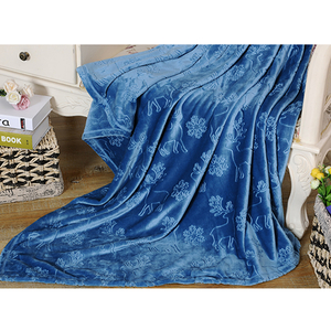 Custom High Quality Super Soft Fleece Solid Color Adult Blanket
