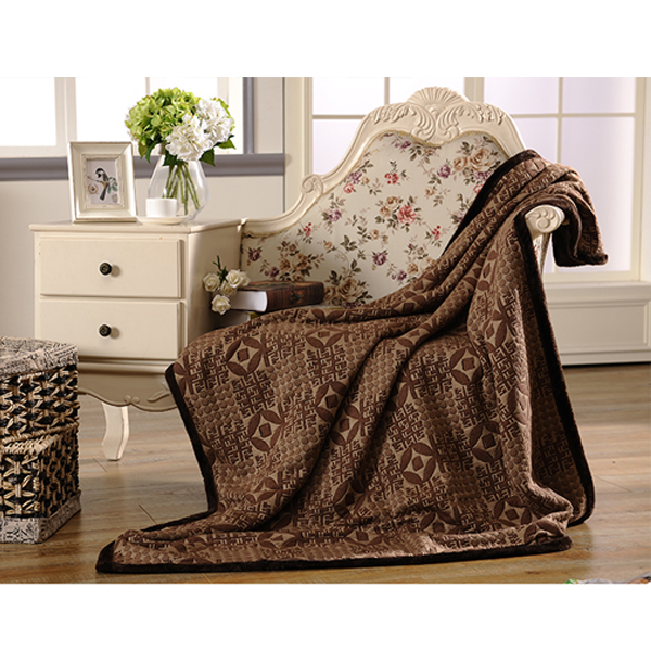 100% Polyester New Design Soft Jacquard Blankets