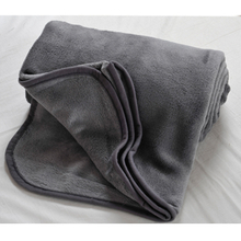 Gray color Micro Plush Travel Fleece Blanket