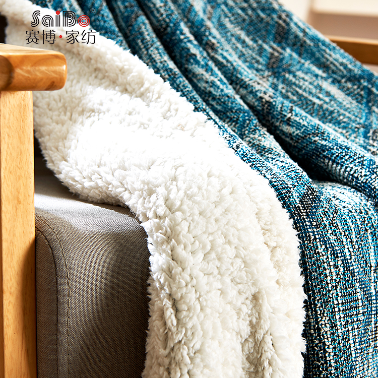 Comfortable Custom Cotton Knitted Fabric Flannel Blanket