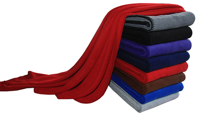 Plain Dyed Customized Color Cheap Polar Fleece Blanket