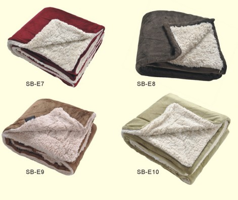 "100% Polyester 50""X60"" Micro Mink Sherpa Blanket"